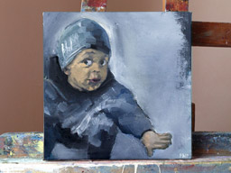 Oil on canvas 25x25 cm