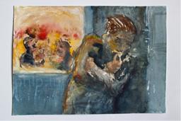 Watercolor & pencil 25x17 cm